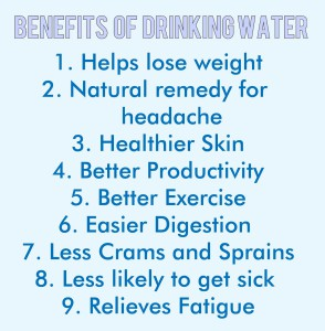 benefits of only drinking water