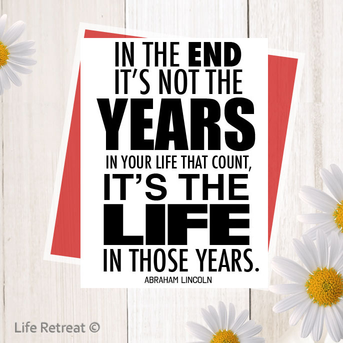 years in your life