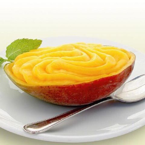 serving suggestion for mango sorbet