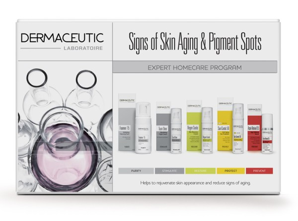Signs of Skin Aging & Pigment Spots facing