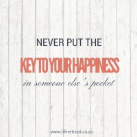 key to happiness someone