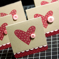 button heart cards