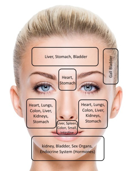 Face Mapping Guidelines To Treat Problem Skin And Spots