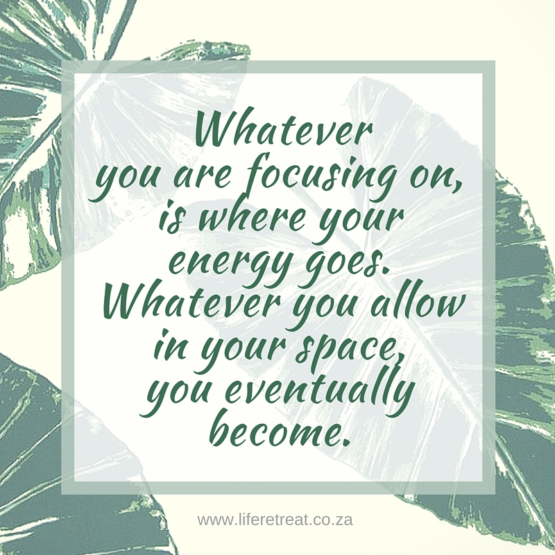 Daily Quote Focus Your Energy Life Retreat South Africa