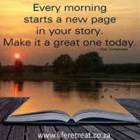 Inspirational Quote New Day New Page Life Retreat South Africa