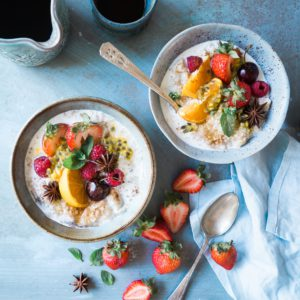 oat and berry breakfast