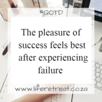 The pleasure of success feels best after experiencing failure