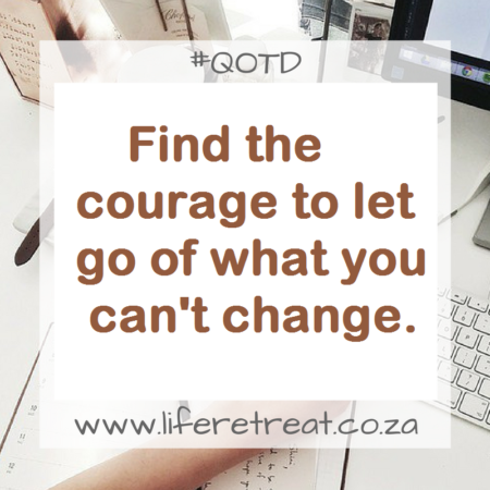 Find the courage to let go