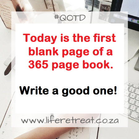 first blank page of a 365 page book.