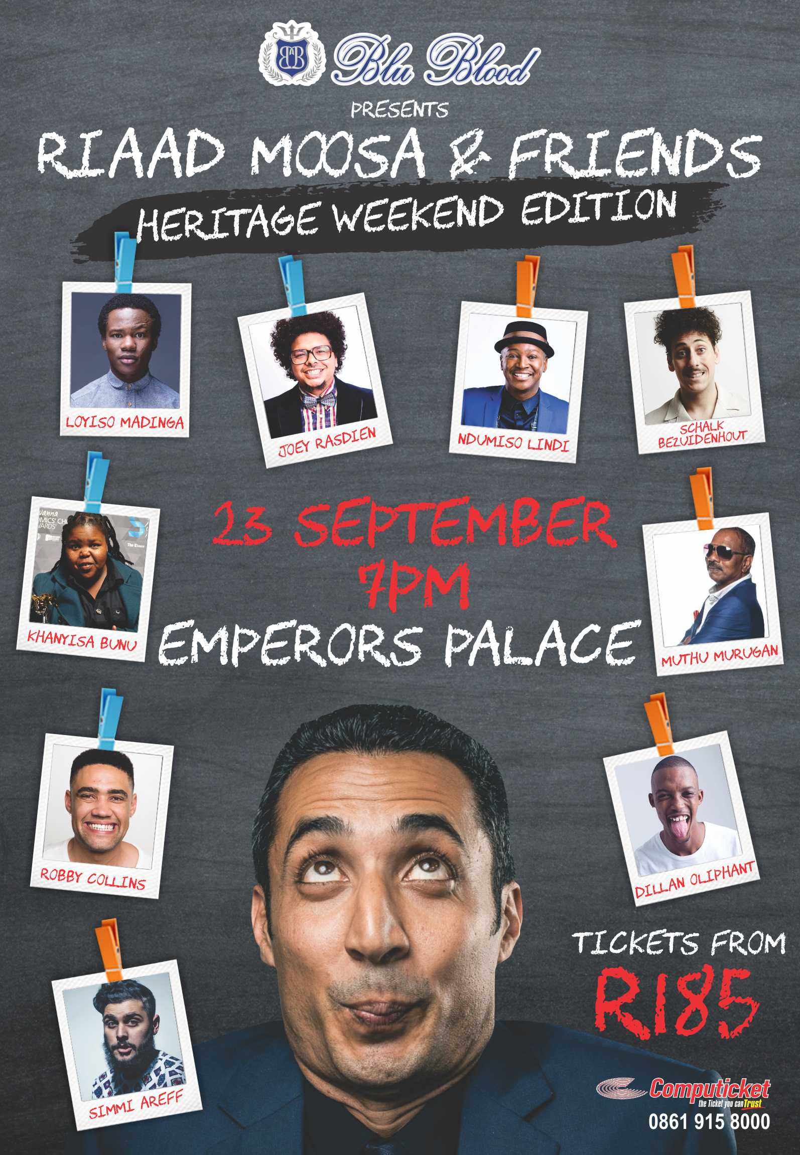 Win Tickets To The Riaad Moosa & Friends:: Heritage Weekend Edition