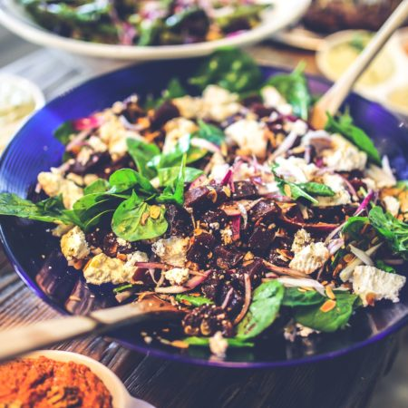 Beetroot, Buckwheat And Walnut Salad